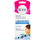 Veet Easy-Gel Obličej depilační voskové pásky pro citlivou pokožku 40 kusů