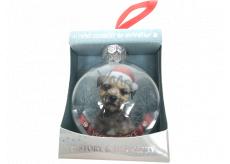 Albi Skleněná vánoční ozdobička se zvířátky - Border teriér 7,5 cm x 8 cm x 3,6 cm