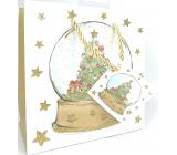 Epee Dárková papírová taška 17 x 17 x 9 cm Vánoční Merry Christmas sněžítko CD LUX malá