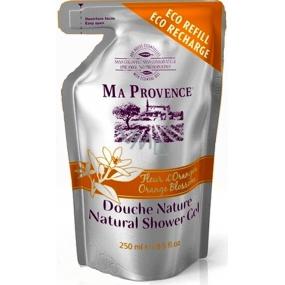 Ma Provence Bio Květ pomeranče Pravý přírodní sprchový gel náhradní náplň 250 ml