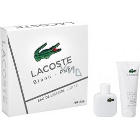 Lacoste Eau de Lacoste L.12.12 Blanc toaletní voda pro muže 50 ml + sprchový gel 100 ml, dárková sada