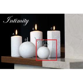 Lima Mramor Intimity vonná svíčka bílá koule průměr 60 mm 1 kus