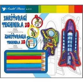 Smršťovací technika 3D 04 Raketa 18 x 15,5 cm