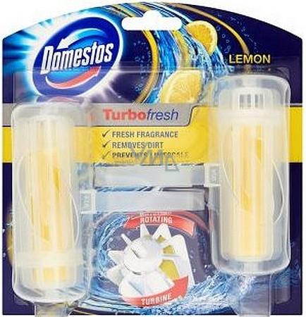Domestos Turbo Fresh Lemon Fresh Wc blok rotační tuhý 2 x 32 g