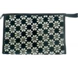 Etue Černá s bílými květy 27 x 18 x 7 cm 70450