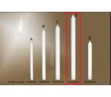 Lima Gastro Kostelní hladká svíčka bílá dlouhá 30 x 520 mm 1 kus