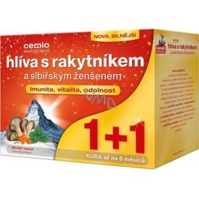 Cemio Hlíva s rakytníkem a sibiřským ženšenem pro odolnost organismu 90 + 90 tablet, dárkové balení