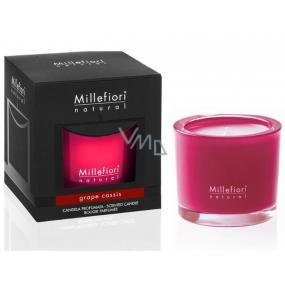 Millefiori Milano Natural Grape Cassis - Hrozny a černý rybíz Vonná svíčka hoří až 60 hodin 180 g