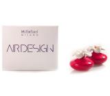 Millefiori Air Design Difuzér květina nádobka pro vzlínání vůně pomocí porézní vrchní části mini červená 2 kusy, 80 ml, 7 x 6 cm