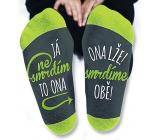 Nekupto Rodinné dárky s humorem Ponožky Já nesmrdím, velikost 39-42
