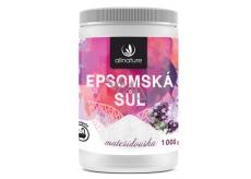 Allnature Epsomská sůl Hořčík, Síran a Mateřídouška do koupele uvolňuje svaly, odbourává stres, detoxikuje organismus 1000 g