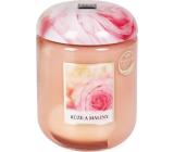 Heart & Home Růže a maliny Sojová vonná svíčka střední hoří až 30 hodin 110 g