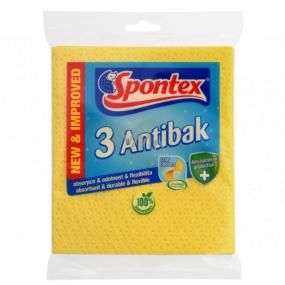 Spontex 3 Antibak antibakteriální houbová utěrka žlutá 3 kusy