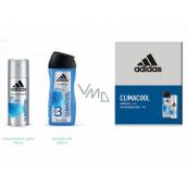 Adidas Climacool antiperspitant deodorant sprej 150 ml + 3v1 sprchový gel na tělo, tvář a vlasy 250 ml kosmetická sada pro muže