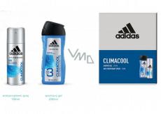 Adidas Climacool antiperspirant deodorant sprej pro muže 150 ml + 3v1 sprchový gel na tělo, tvář a vlasy 250 ml, kosmetická sada