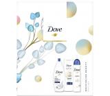 Dove Nourishing Deeply vyživující sprchový gel 250 ml + tělové mléko 250 ml + antiperspirant sprej 150 ml, kosmetická sada