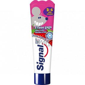 Signal Kids Strawberry 3-6 let zubní pasta pro děti 50 ml