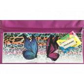 Donau Gimboo školní pouzdro se zipem fialové s motýlky 22 x 12 cm