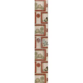Nekupto Vánoční balicí papír šedý Červený čtvereček vánoční dekorace 2 x 0,7 m