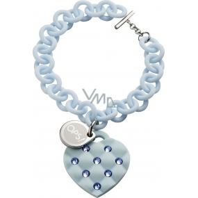 Ops! Objects Matelassé Crystal Bracelet náramek OPSBR-234 světle modrá