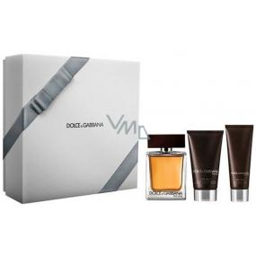 Dolce & Gabbana The One for Men toaletní voda pro muže 100 ml + balzám po holení 75 ml + sprchový gel 50 ml, dárková sada