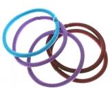 Vlasová gumička vínová, fialová, tyrkysová 5 x 0,4 cm 5 kusů