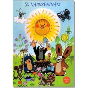 Albi Svítící přání do obálky K narozeninám Krtek a sluníčko 14,8 x 21 cm