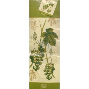 Nekupto Dárková papírová taška na láhev 33 x 10 x 9 cm vinná réva 1 kus 0310 50 ALH