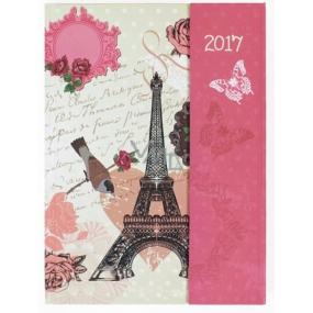 Albi Diář s magnetem Eiffelovka 13 cm × 18 cm × 1 cm