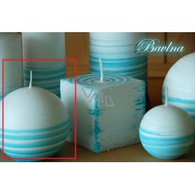 Lima Aromatická spirála Bavlna svíčka bílo - tyrkysová koule 80 mm 1 kus