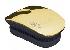 Ikoo Pocket Metallic Kapesní kartáč na vlasy podle čínské medicíny metalický zlato-černý