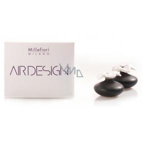 Millefiori Air Design Difuzér květina nádobky pro vzlínání vůně pomocí porézní vrchní části mini 2 ks černá, 80 ml, 7 x 6 cm
