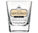 Nekupto Liga Pravých Gentlemanů Whisky sklenička Jsem Gentleman, protože svět je plný obyčejných chlapů 7 x 7 x 9 cm