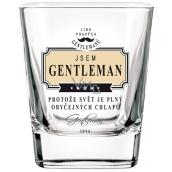 Nekupto Liga Pravých Gentlemanů Whisky sklenička Jsem Gentleman, protože svět je plný obyčejných chlapů 200 ml
