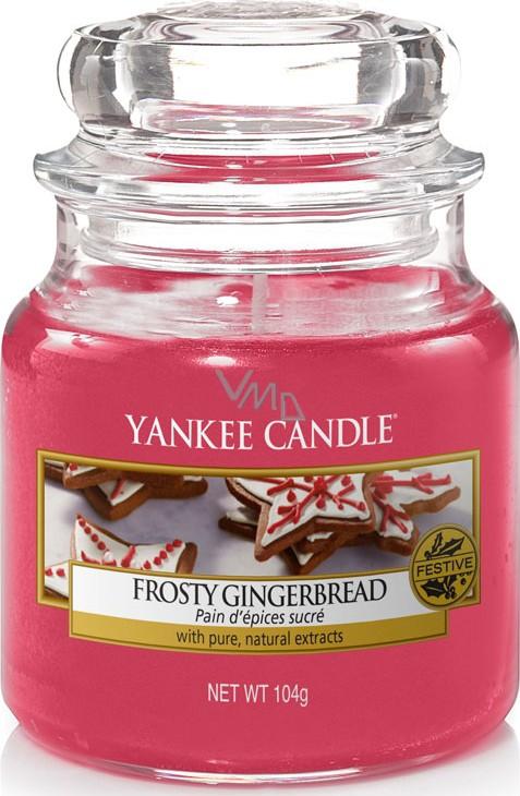 YANKEE CANDLE Kleine Kerze FROSTY GINGERBREAD 104 g Duftkerze