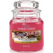 Yankee Candle Frosty Gingerbread - Perník s polevou vonná svíčka Classic malá sklo 104 g