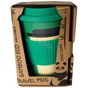 Cozy Time Bamboo Eco Mug Shot bambusový ekologický termohrnek + silikonové víčko tmavě zelený 450 ml