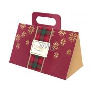 Yankee Candle Candlelit Cabin - Chata ozářená svíčkou + Pomegranate Gin Fizz - Gin Fizz z granátového jablka + White Fir - Ojíněná jedle votivní svíčka 3 x 49 g, vánoční dárková sada