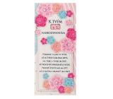 Bohemia Gifts & Cosmetics Mléčná čokoláda Pro ženu k narozeninám - Květiny 100 g