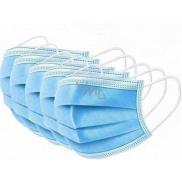 3 vrstvová Premium netkaná jednorázová lékařská ochranná rouška nízký dýchací odpor 5 kusů
