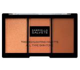 Gabriella Salvete Trio Highlighting Palette paletka tří pudrů pro rozjasnění a konturování pleti 15 g