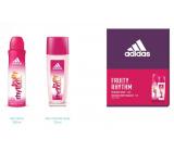 Adidas Fruity Rhythm parfémovaný deodorant sklo pro ženy 75 ml + deodorant sprej 150 ml, kosmetická sada