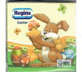 Regina Papírové ubrousky 1 vrstvé 33 x 33 cm 20 kusů Velikonoční Zajíček s kuřátky