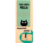 Albi Magnetická záložka do knížky Kočka se srdíčky 8,7 x 4,4 cm