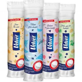 Velvet Natural Comfort vatové odličovací tampony kulaté 120 kusů