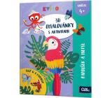 Albi Kvído 3D omalovánky Papoušek a motýl doporučený věk 4+