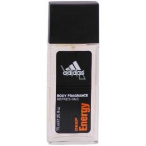 Adidas Deep Energy parfémovaný deodorant sklo pro muže 75 ml