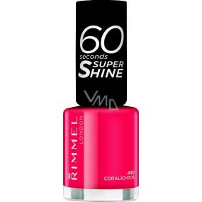 Rimmel London 60 Seconds Super Shine Nail Polish lak na nehty 430 Coralicious 8 ml