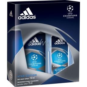 Adidas Champions League parfémovaný deodorant sklo 75 ml + deodorant sprej 150 ml, pro muže kosmetická sada