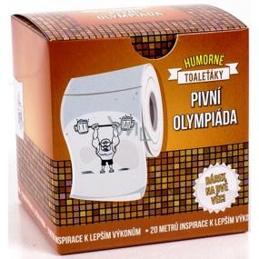 Albi Vtipný toaleťák s Pivní olympiádou, 20 metrů šustivého luxusu, Dárkový toaletní papír